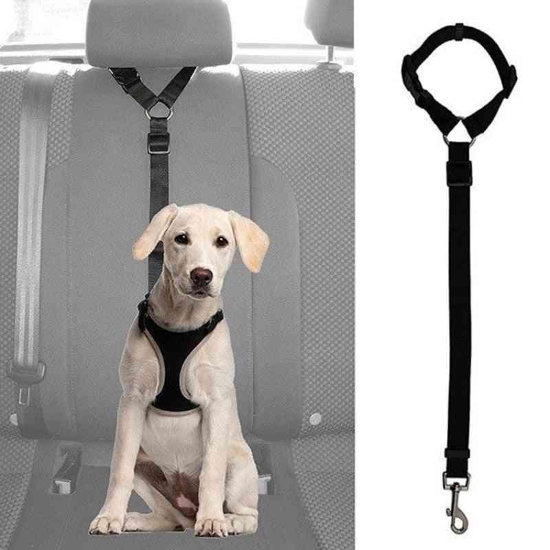Practical Pet Safety Adjustable Car Seat Belt, Harness Leash Travel Clip Strap Lead