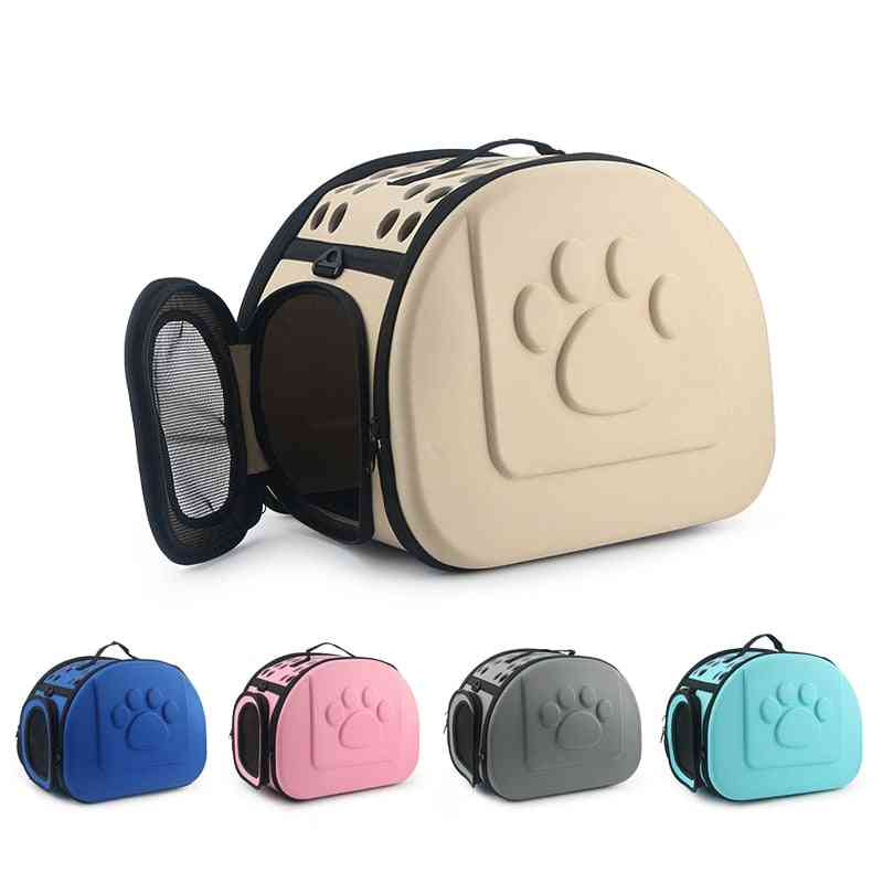 Eva Pure Color Pet Carrier Bag - Portable Outdoor Foldable Shoulder Travel Pet Bag