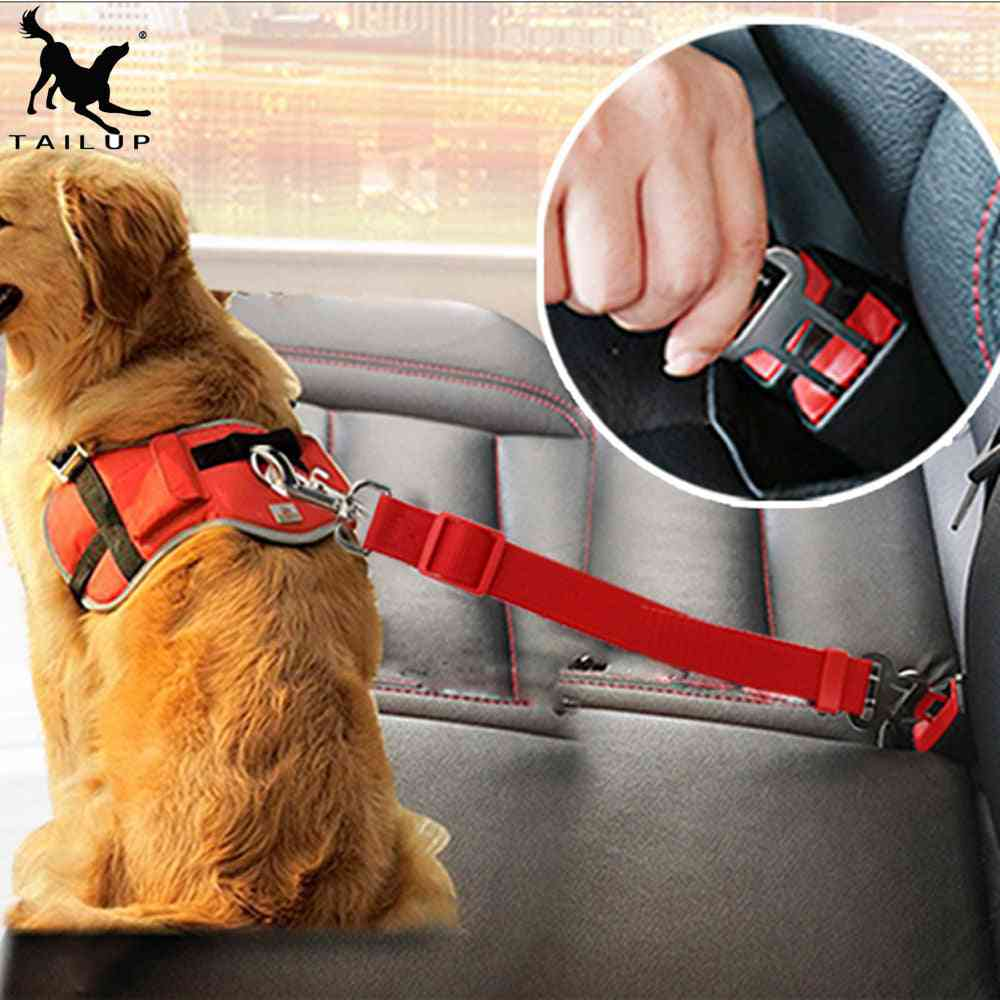 Hachikitty Dog Car Seat Belt Safety Protector - Collar Breakaway Solid Car Harness