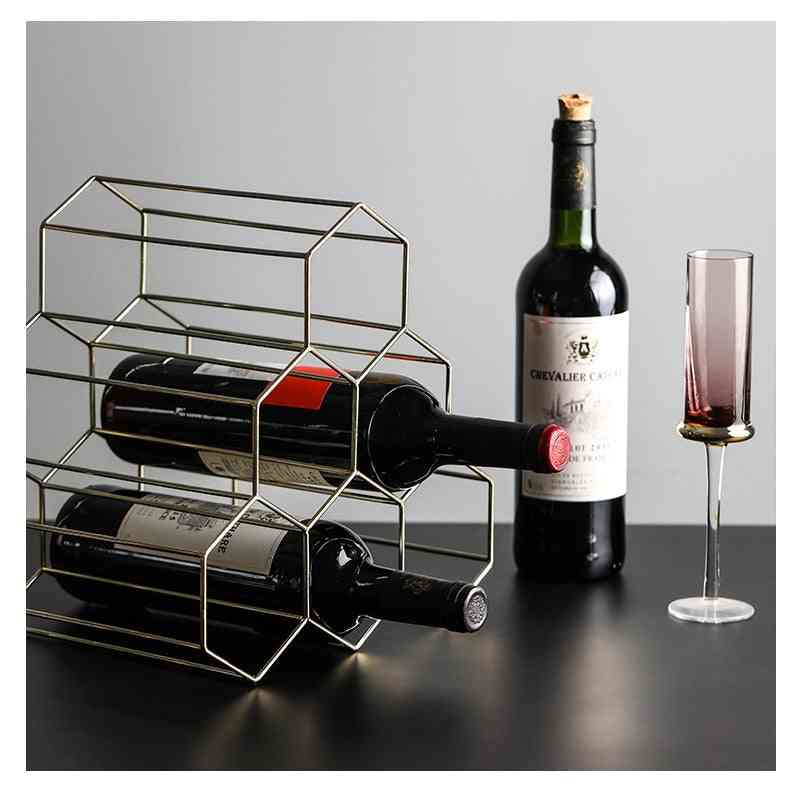 Creative 6 Grids Nordic Style Wine Holder Or Rack Used For Wine Storage