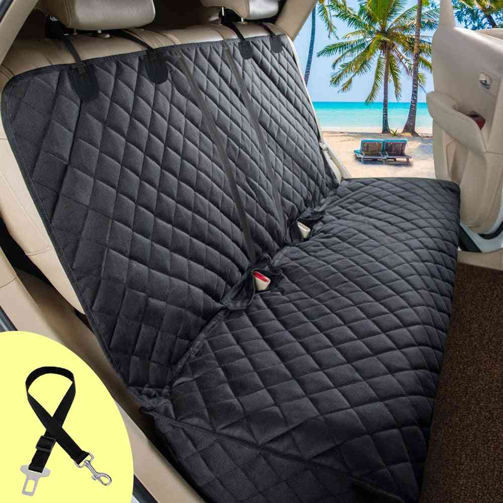 Dog Carrier Waterproof Car Seat Cover Rear Back Mat - Travel Cushion Protector With Middle Seat Armrest