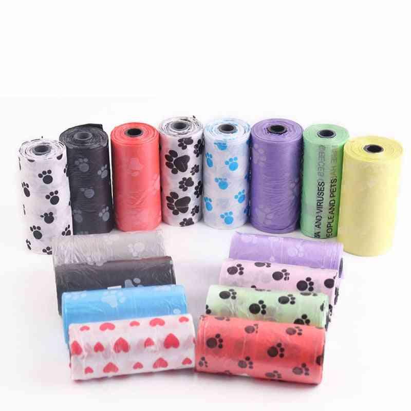 Degradable Pet Dog Waste Poop Bag With Printing - Pet Waste Clean Poop Bags