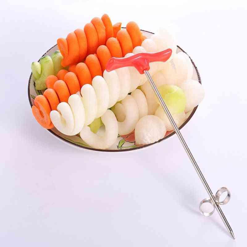 Vegetables Spiral Knife Salad Chopper - Easy Spiral Screw Slicer Cutter