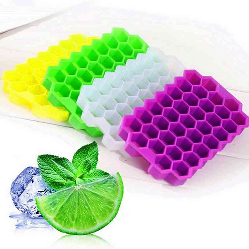 Home Honeycomb Shape Silicone Ice Cube Tray Used For Storage