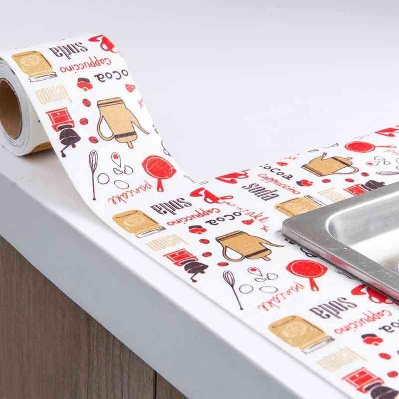 Kitchen Shelf Drawer Mat - Oil Proof Wall Stickers, Cabinet Mat, Bathroom, Sink Bath Sealing Strip Tape