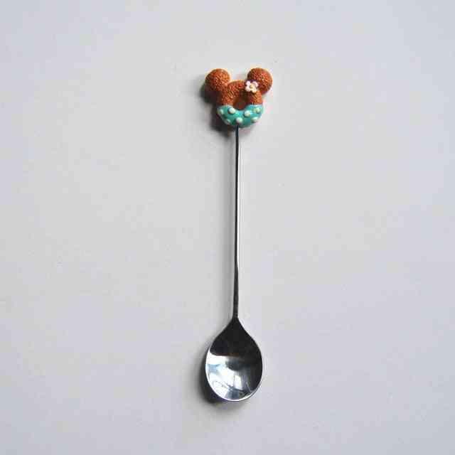 Wooden Long Handled Spoon Kids Spoon - Wood Rice Soup Dessert Spoon
