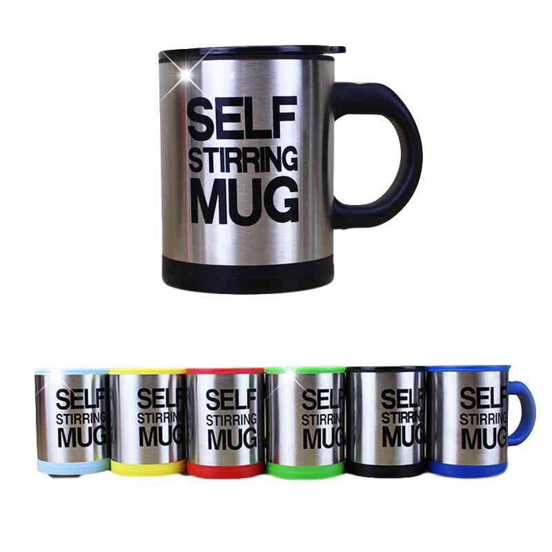 Automatic Stainless Steel Thermal Self Stirring Coffee, Milk Mixing Mug - Electric Lazy Double Insulated Smart Cup