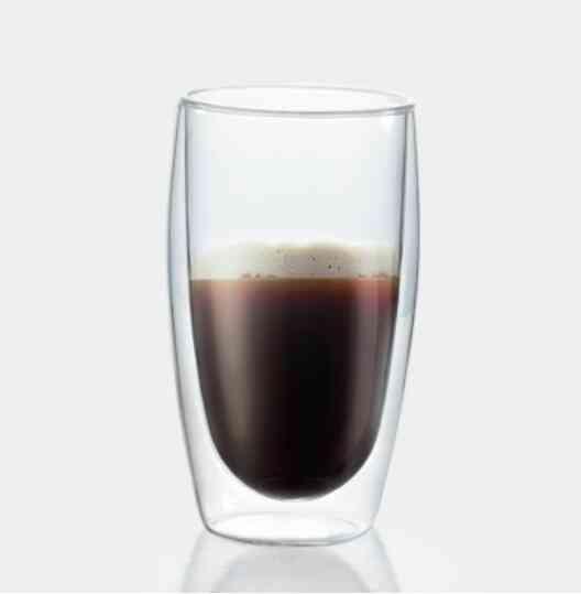 Double Wall Glass Cup Beer Coffee Heart Cups, Heat Resistant Healthy Drink Tea Mug