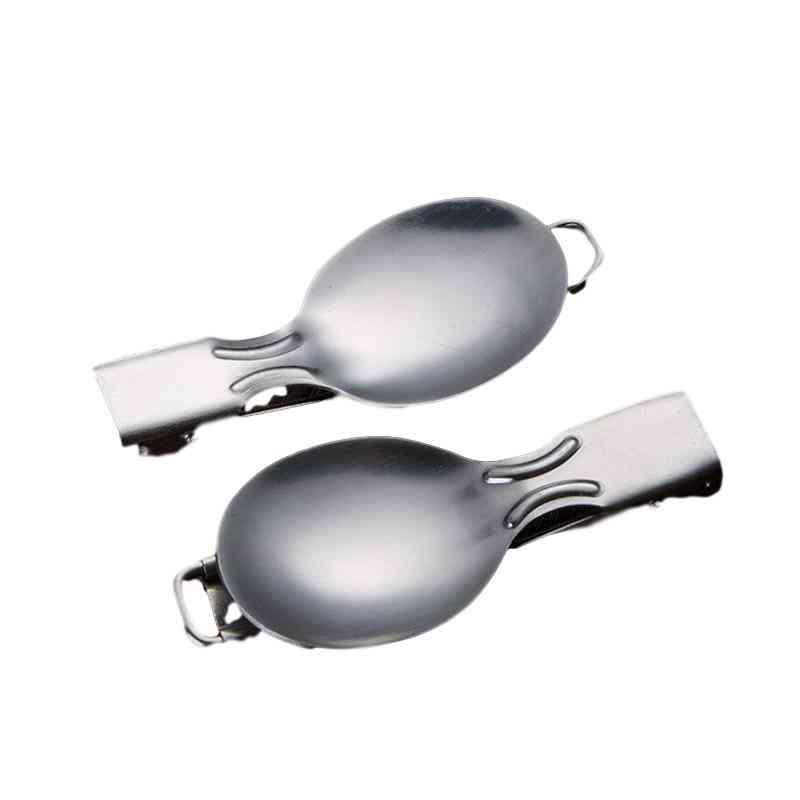Backpack Flatware Cutlery Tableware Spork Fork - Cookware Travel Stainless Steel Outdoor Utensil
