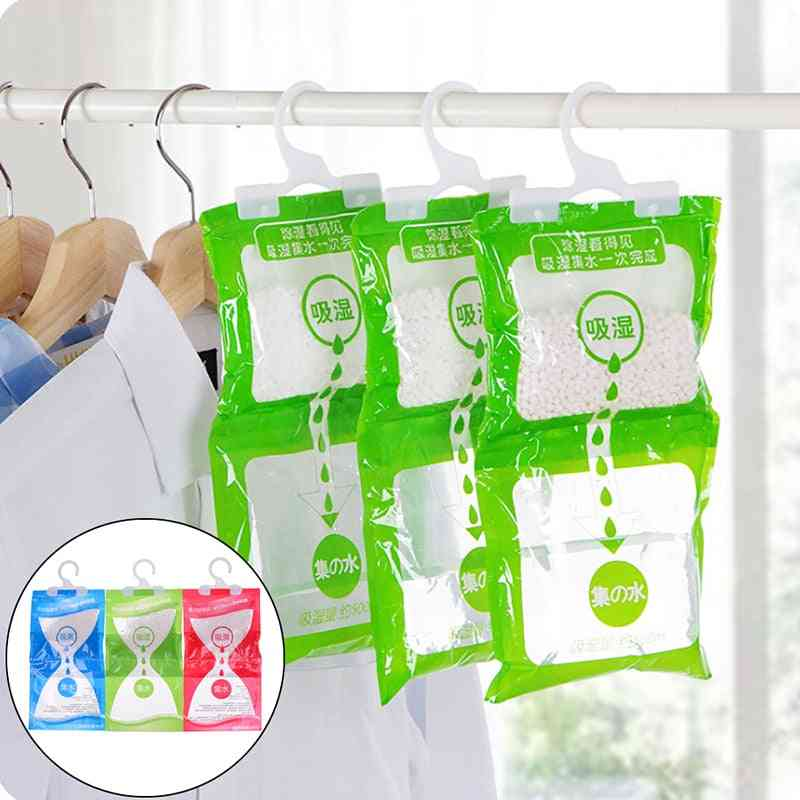 Wardrobe Hanging Moisture Bag Closet, Cabinet Dehumidifier Drying Agent - Hygroscopic Anti Mold Desiccant Bags