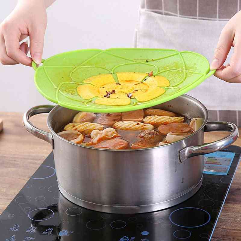 Silicone Lid Spill Stopper Flower Cookware Cover For Pot Pan Cooking Tools