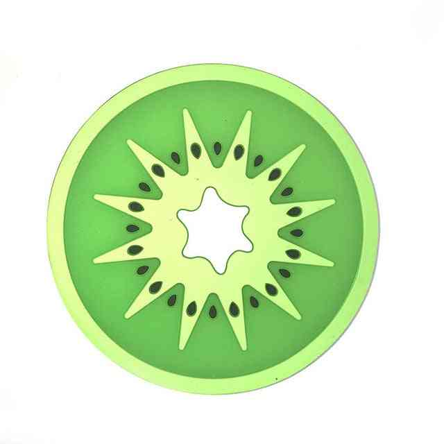 Cup Mat Pad Coaster Fruit Shape Silicone Cup Pad Slip Insulation Pad Hot Drink