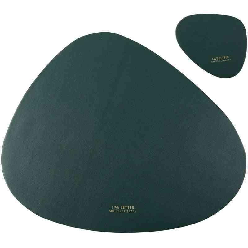 Tableware Pad Placemat Table Mat Pu Leather Heat Insulation