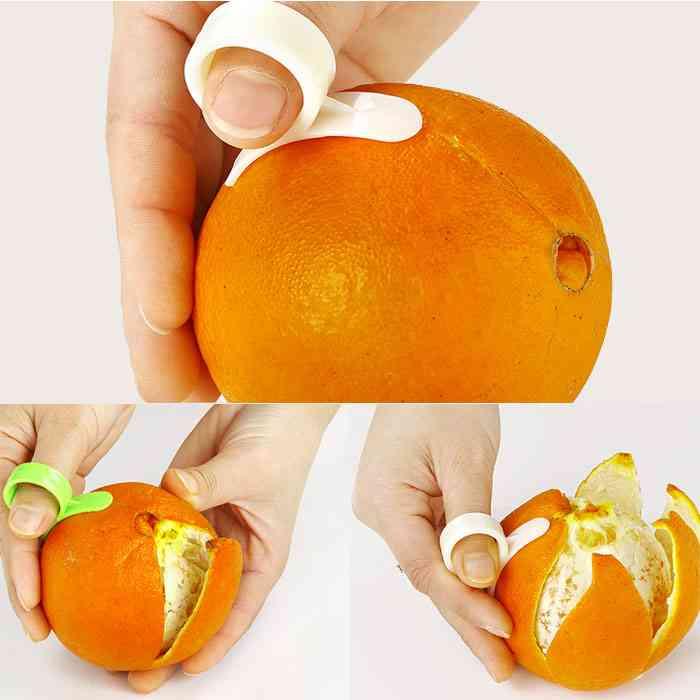 Kitchen Gadgets Cooking Tools Peeler Parer Finger Type - Open Orange Peel