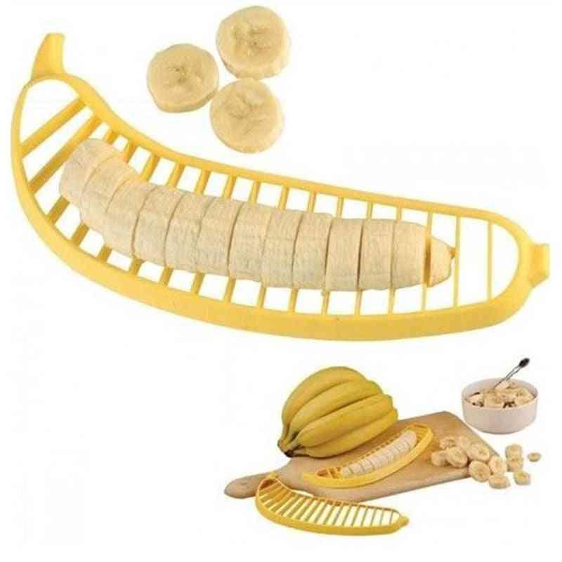 Kitchen Gadgets Plastic Slicer Cutter - Fruit Vegetable Tools Salad Maker Cooking Tool - Banana Chopper