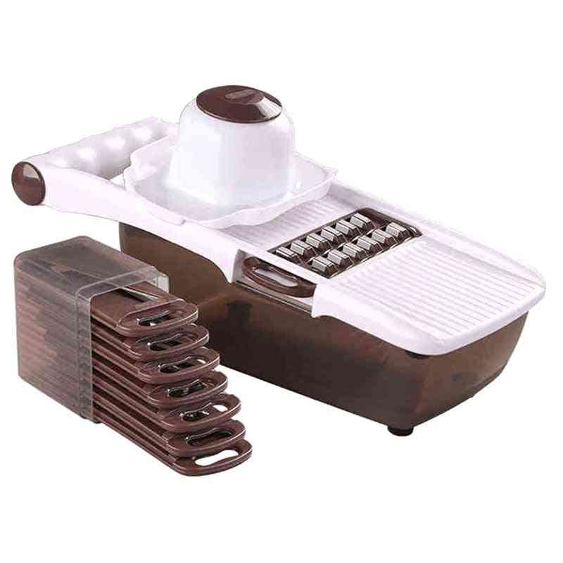 Multifunctional Vegetable Cutter With Stainless Steel Blade - Potato, Carrot Grater Manual Cutter