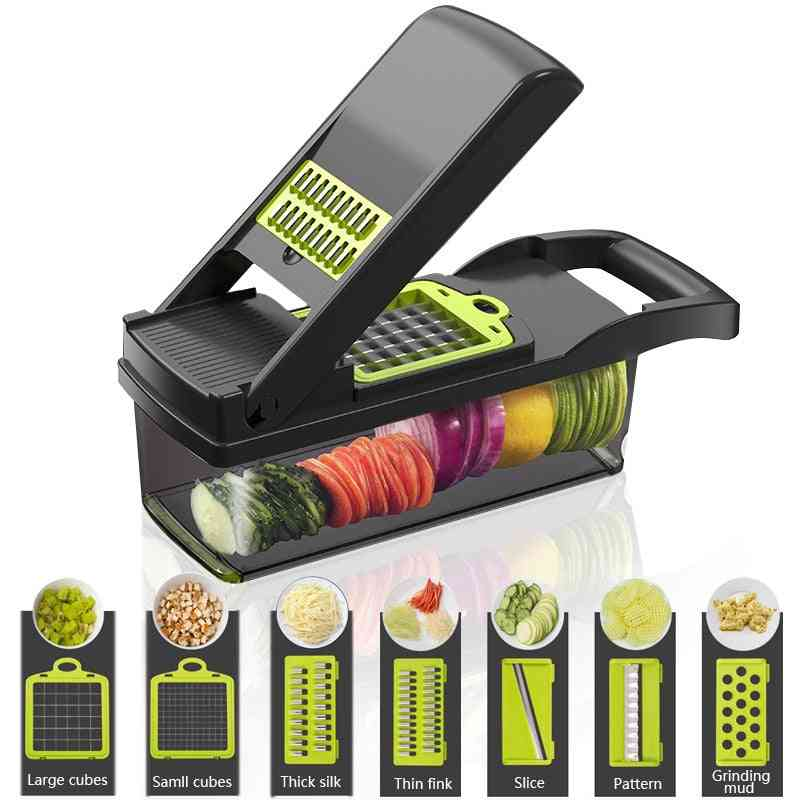 Vegetable Cutter Kitchen Accessories Manual Food Processors, Slicer, Fruit Cutter Potato Peeler Carrot Cheese Grater