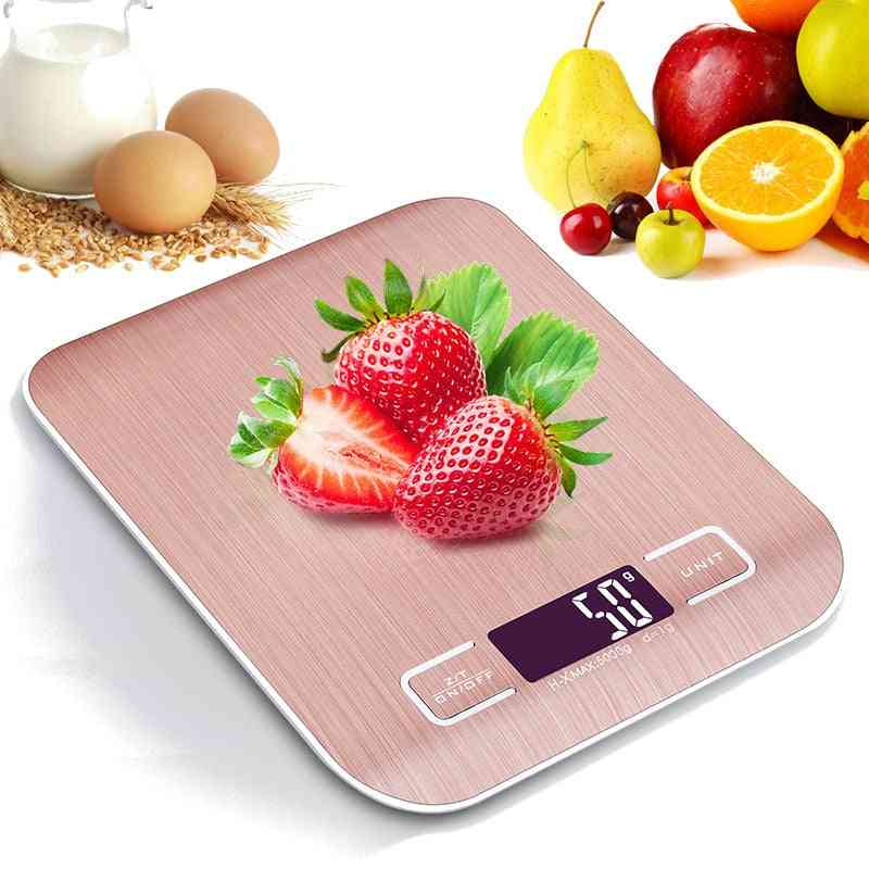 Electronic Usb Charging Kitchen Scale Digital Lcd Measuring Tool - Stainless Steel Weighing Scale