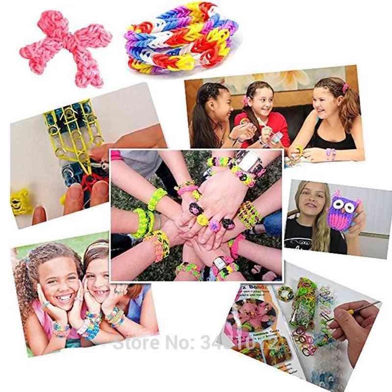 Rubber Loom Bands Weaving Braided Bracelet Tool Diy Kit - Boxed Kids Plaiting Creativity