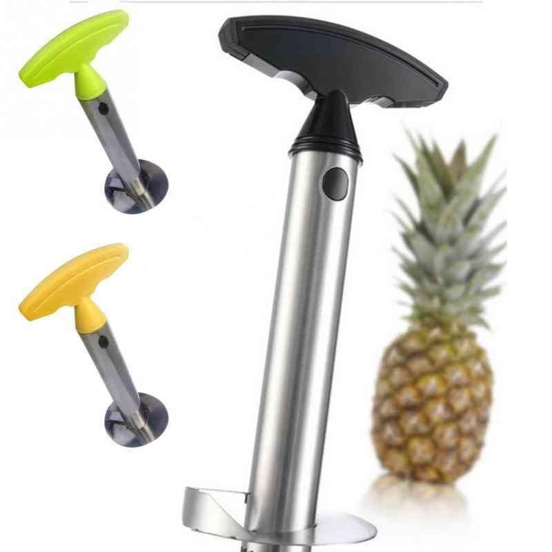 Stainless Steel Fruit Knife Cutter Corer Slicer - Pineapple Peeler Accessories