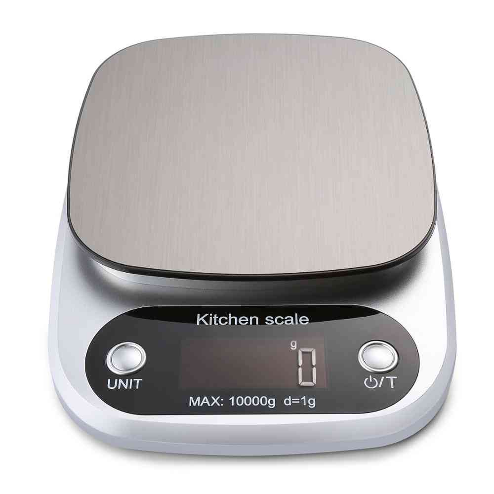 Digital Kitchen Food Weight Scales With Lcd Display And Stainless Steel Platform