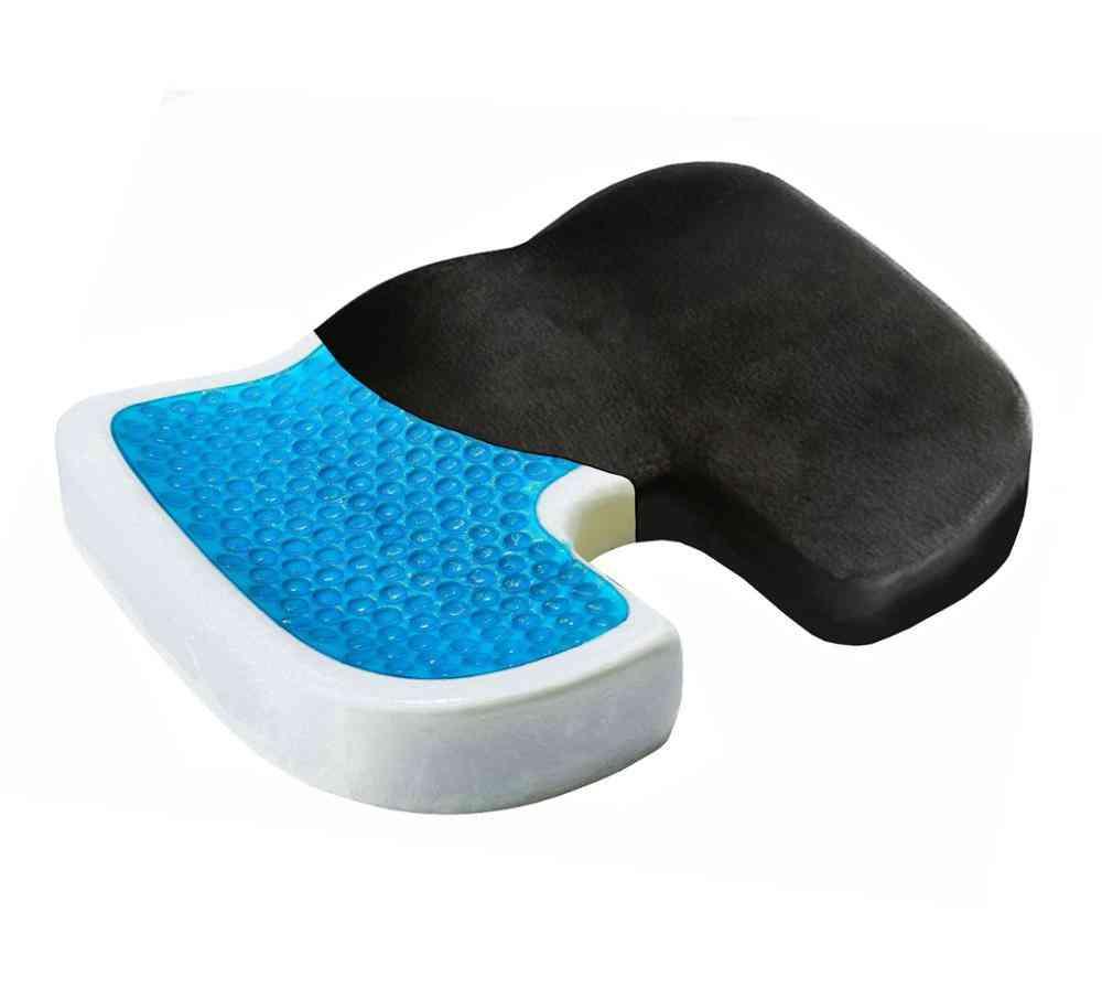 Comfortable Gel Sponge Cushion Memory Foam Seat - Anti Haemorrhoids, U Shaped Cushion