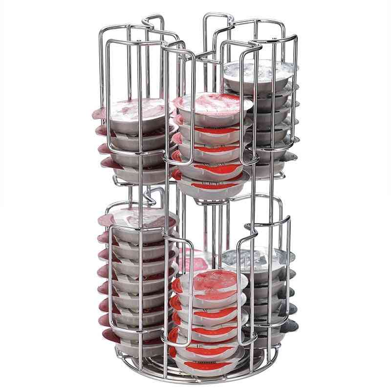 Rotating Capsule Coffee Pods Holder Storage Rack