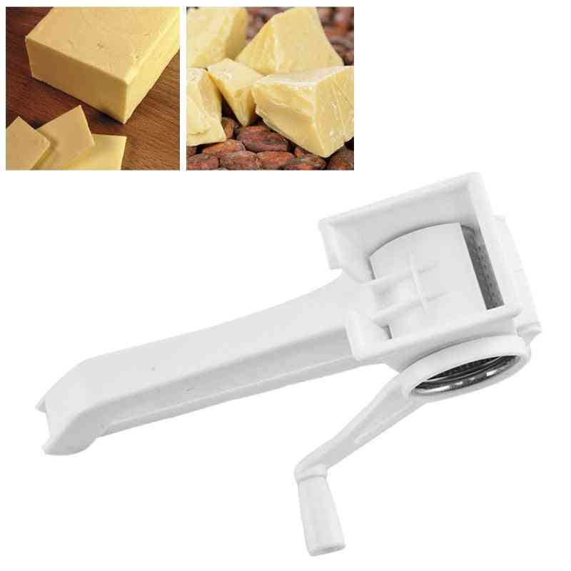 Chocolate Cutter-stainless Steel Drum Ginger Slicer, Multifunction Cheese Grater