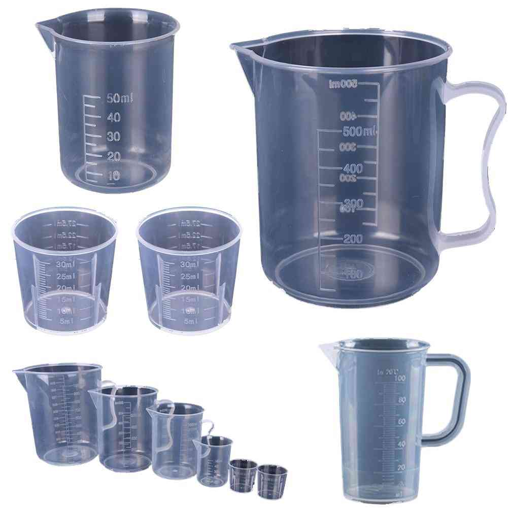 Clear Plastic Graduated Measuring Cup For Baking Beaker