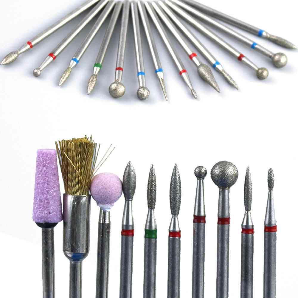 Diamond Nail Drill Bit Milling Cutter - Manicure Burr Cuticle Clean Electric Nail Files