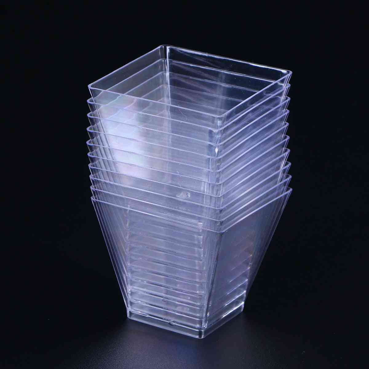 Disposable Plastic Portion Cups - Trapezoidal Dessert Container