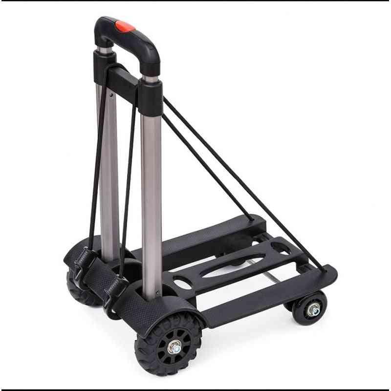 Foldable Portable Aluminium Black Bearing Trolley Trailer
