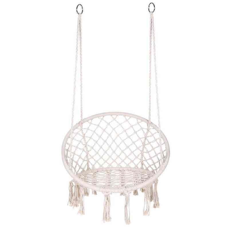 Safe Hanging Hammock Chair - Swing Rope Outdoor Indoor Bar Garden Seat