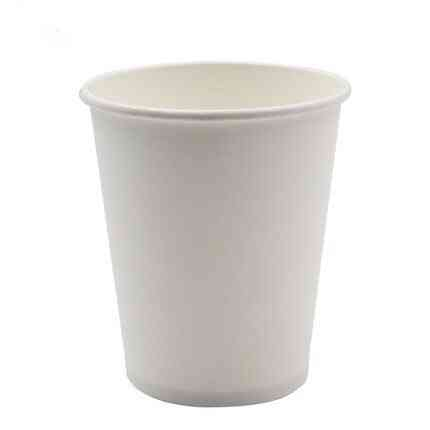 100pcs Pure White Paper - Disposable Tea, Coffee Cup