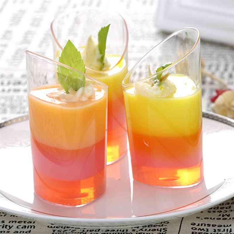 80ml Transparent Dessert Cups - 20pcs Disposable Plastic Cup