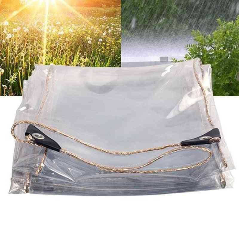 Transparent Pvc Tarp - Rain Sail Tarp - Outdoor Waterproof Tarpaulin