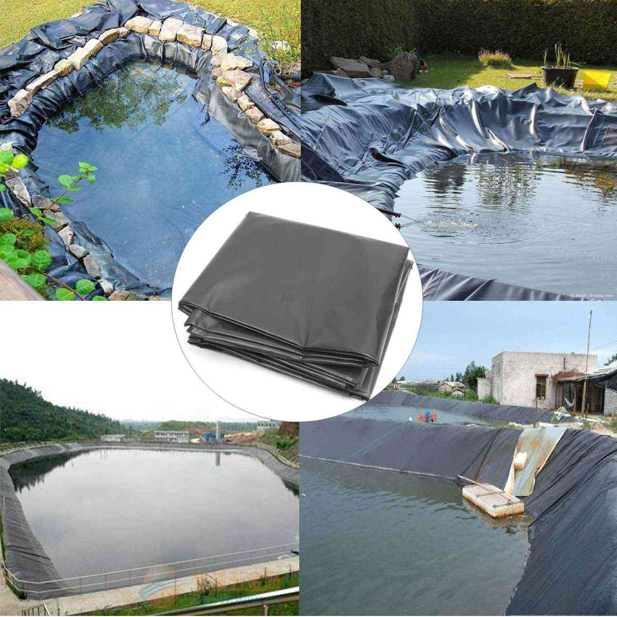 Fish Pond Liner Landscaping Pool Reinforced, Thick Heavy Duty Waterproof Membrane Liner Cloth
