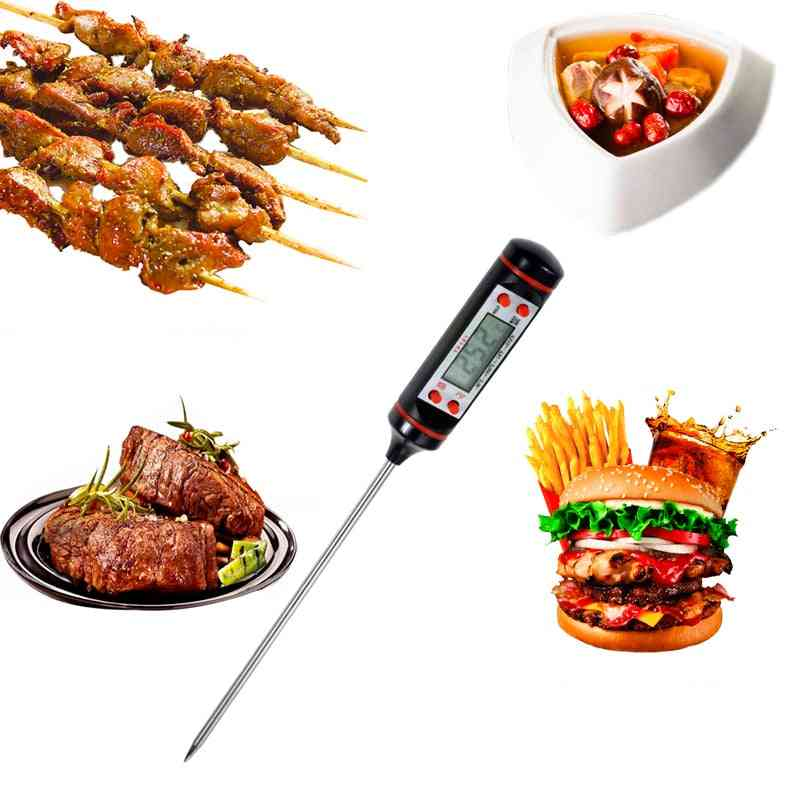Digital Bbq Food Thermometer - Household Cooking Thermometer Gauges