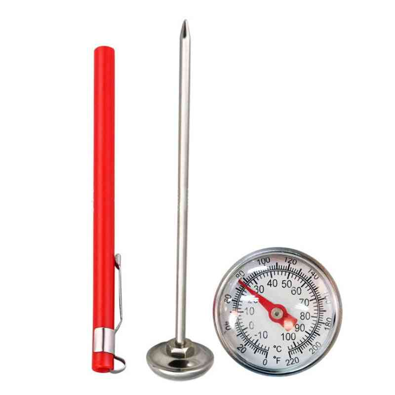 Stainless Steel Thermometer - Kitchen Probe Food, Tea, Coffee, Foam Bbq Temperature Tester
