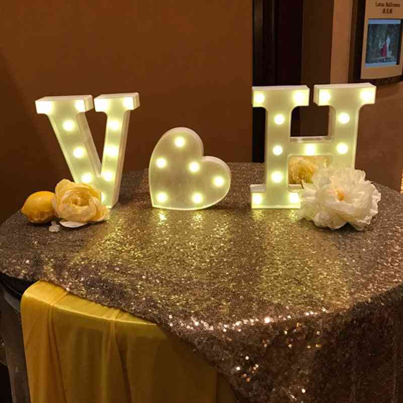 Led Alphabet Number Occasional Party Decoration
