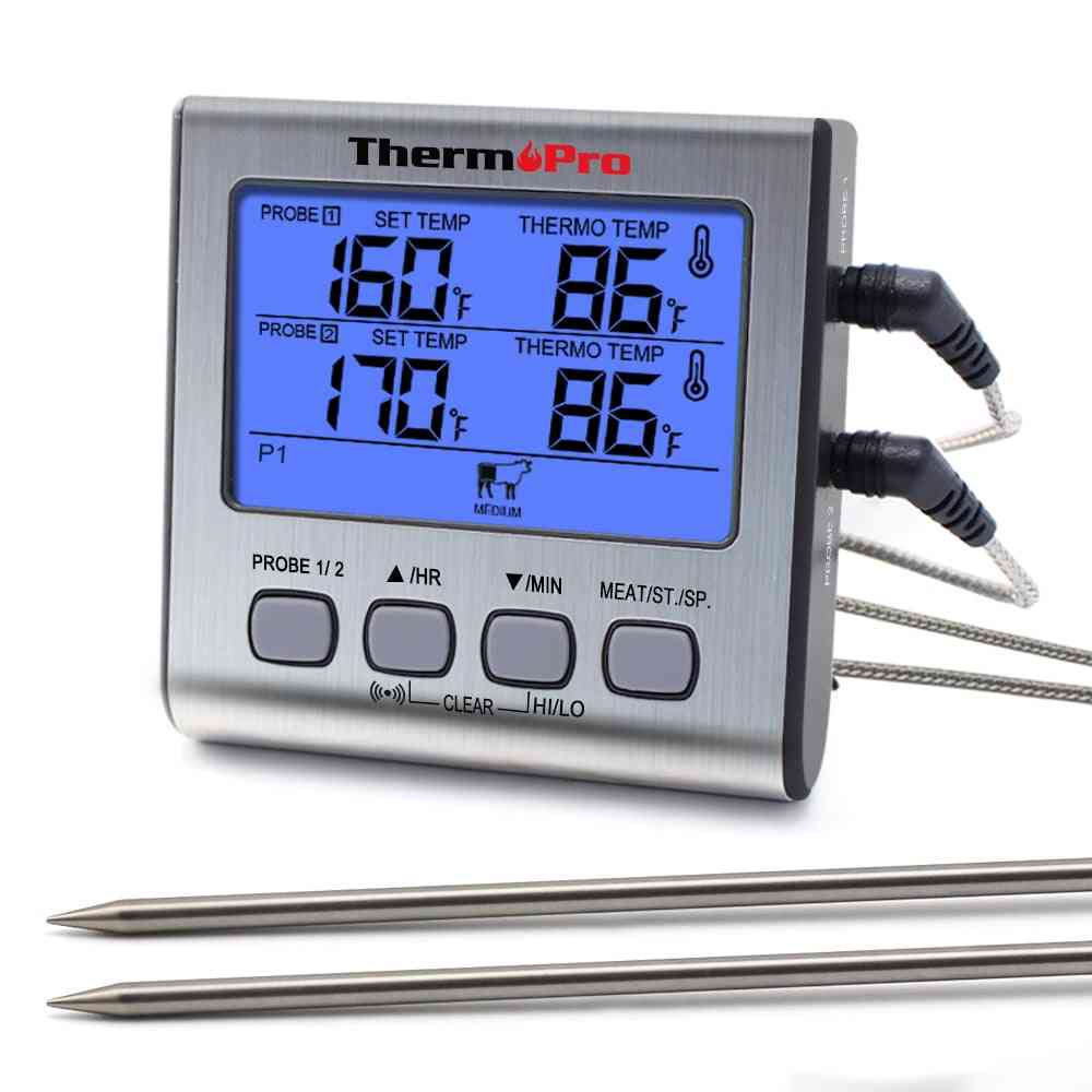 Dual Probes Digital Outdoor - Thermometer  With Big Lcd Screen