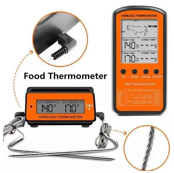 Wireless Remote Dual Probe Digital Food Oven Thermometer