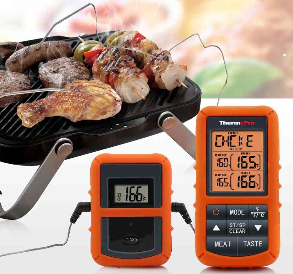 Stainless Steel Wireless Remote Digital Meat Bbq, Oven Thermometer