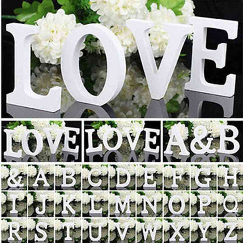 White Wooden English Alphabet Letters