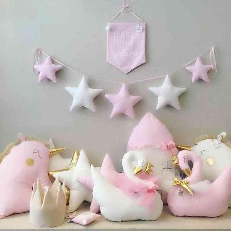 Handmade Nursery Star Garlands - Kids Room Decorations & Prop