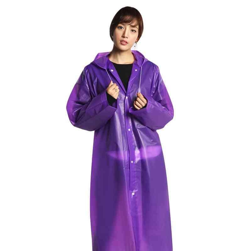 Black Raincoat Clothes Covers - Waterproof Hooded Coat