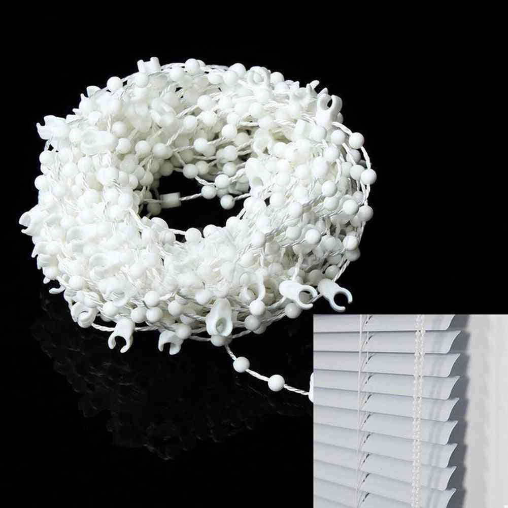 10m Vertical Blind Bead Chain - White  Bottom Parts Spares