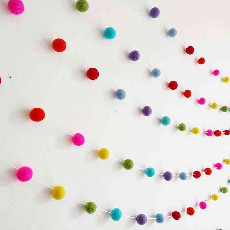 Felt Wool Pom Nordic Style Ball Pendant-hair Hanging Decor