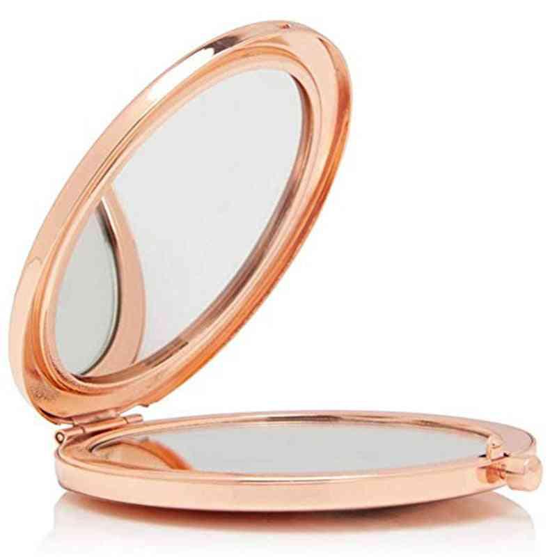 Rose Gold Crystal Compact Makeup Mirror