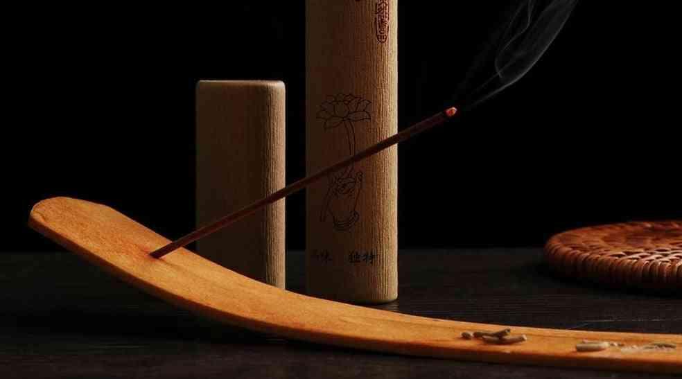 Elegant Natural Plain Wooden Incense Stick Holder